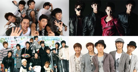 2AM 2PM SHINee Super Junior